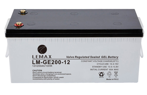 Energy Storage Gel Battery GEL 12V200AH - Lemax