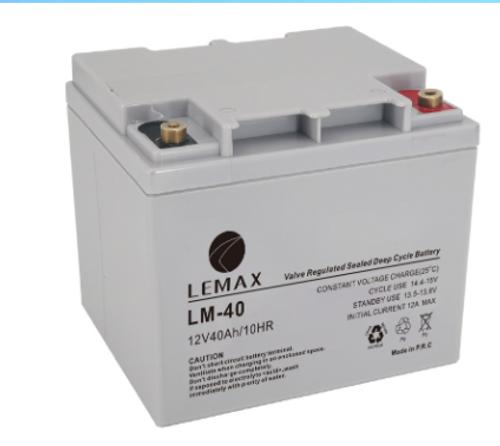 Deep Cycle Battery AGM VRLA 12V40AH Lemax