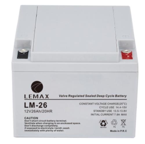 Dry Battery for Uninterruptible Power Supplies 12V26AH- VRLA Lemax