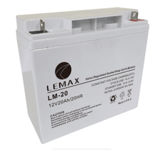 Sealed Power Backup System Deep Cycle Battery 12V20AH Lemax