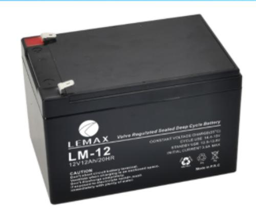 Valve Regulated Lead Acid Battery for UPS System 12V12AH Lemax