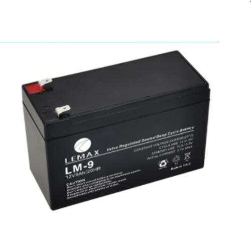 Maintenance Free AGM VRLA Battery 12V9AH Lemax