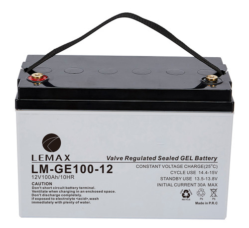 High Reliability GEL Battery for Medical Equipment GEL 12V100Ah- Lemax