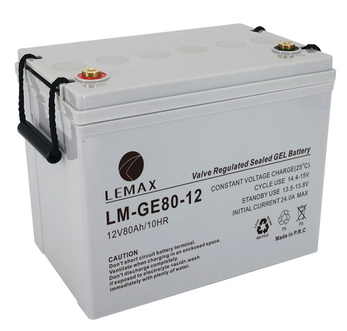 Fire and Security System Backup Power Supply GEL Battery  GEL 12V80Ah-Lemax