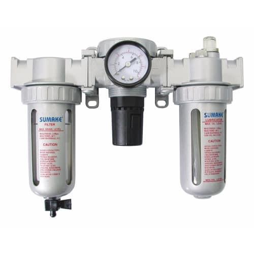 Control unit air filter regulator and lubricator