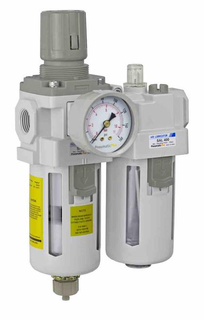 Air filter regulator and lubricator 1/4 inch