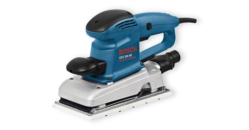 Buy Bosch GSS 280 AE Professional orbital sander online at GZ Industrial Supplies Nigeria The most important data Rated power input 	330 W Sanding plate, width 	114 mm Sanding plate, length 	226 mm