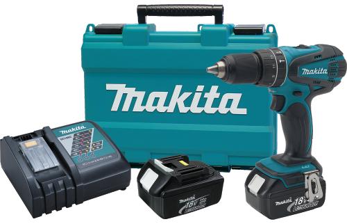"Makita Drilling Machine V LXT® Lithium-Ion Cordless 1/2"" Hammer Driver-Drill Kit Model XPH01"