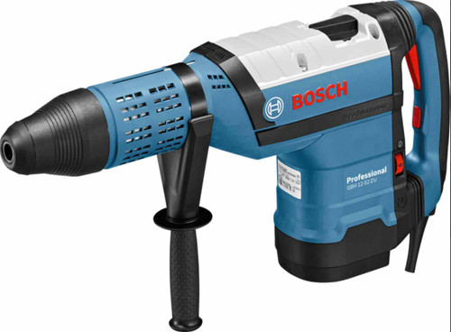 Bosch GBH 12-52 DV Professional Rotary hammer drilling machine Technical data: GBH 12-52 D Professional Input power 1,700 W Impact strength, max. 19 Jun Speed ​​0-220 rev / min Weight 11.5 kg Length 600 mm Width 120 mm Height 312 mm SDS-max toolholder Drilling diameter Concrete, drilling diameter of the SDS drill bits 12 - 52 mm Concrete, optimum use of space with hammer drill bits 30 - 50 mm In concrete, core drilling with drilling diameter of 80 mm In concrete with core drill bits with a diameter of 150 mm