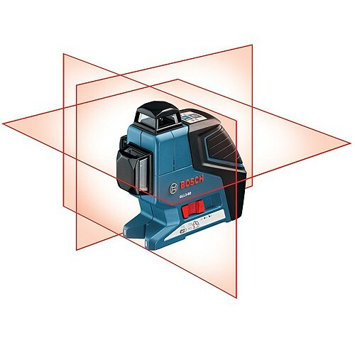 Bosch GLL 3-80p self leveling laser plus laser receiver plus  Wall Mount +LR2 + L-BOXX 2