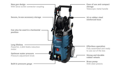 Bosch GHP 5-75X High pressure washer description