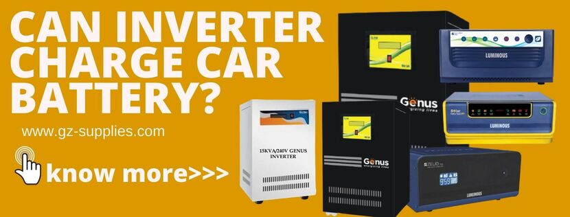 CAN INVERTER CHARGE CAR BATTERY?
