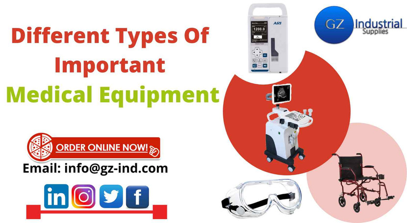 Different types of important medical equipment
