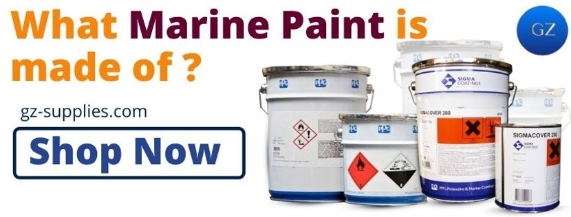 What marine Paint is made of