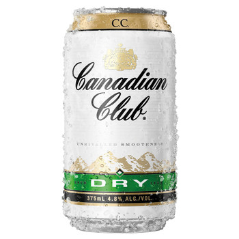 Canadian Club & Dry Cans 375ml