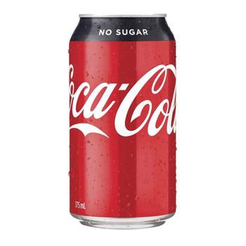 Coca Cola No Sugar Can 375ml
