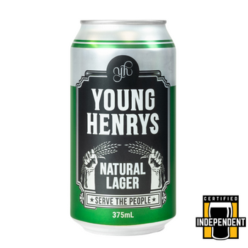 Young Henrys Natural Lager Cans 375ml