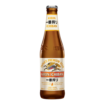 Kirin Ichiban Premium Malt Beer Bottles 330ml