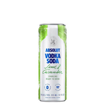 Absolut Lime and Soda Cans 250ml