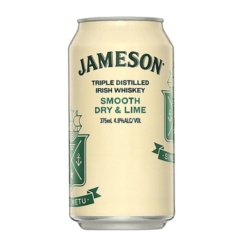Jameson Irish Whiskey Smooth Dry & Lime 4.8% Cans 375ml