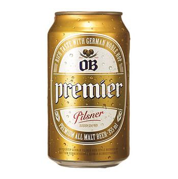 The Premier OB Pilsner All Malt Beer Cans 355ml