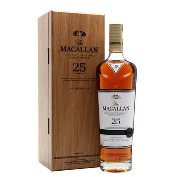 The Macallan 25 Year Old Sherry Oak Highland Single Malt Scotch Whisky (2020 Release)