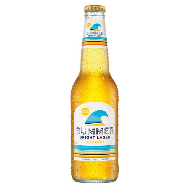 XXXX Summer Bright Lager Bottles 330ml