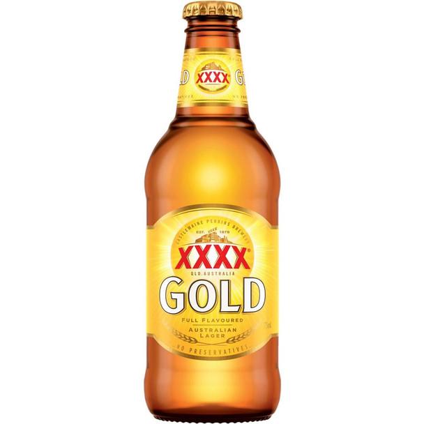 XXXX Gold Lager Bottles 375ml