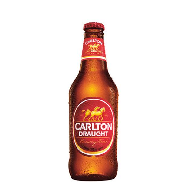 Carlton Draught Lager Bottles 375ml