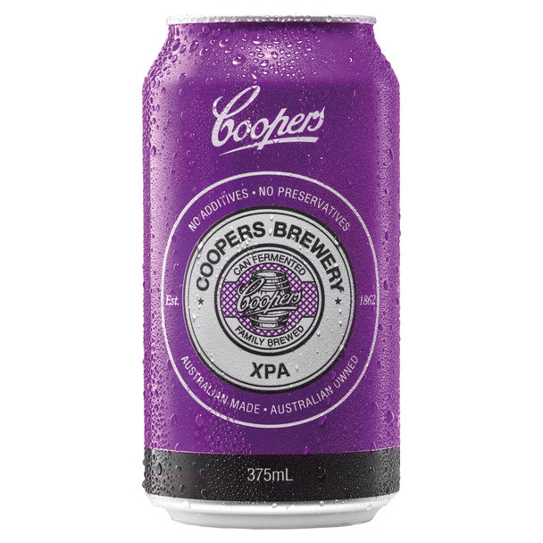 Coopers Brewery XPA (Extra Pale Ale) Cans 375ml