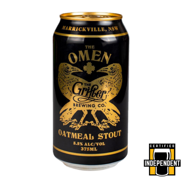 Grifter Brewing Co The Omen Oatmeal Stout Cans 375ml