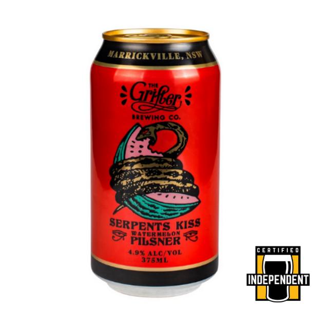 Grifter Brewing Co Serpents Kiss Watermelon Pilsner Cans 375ml