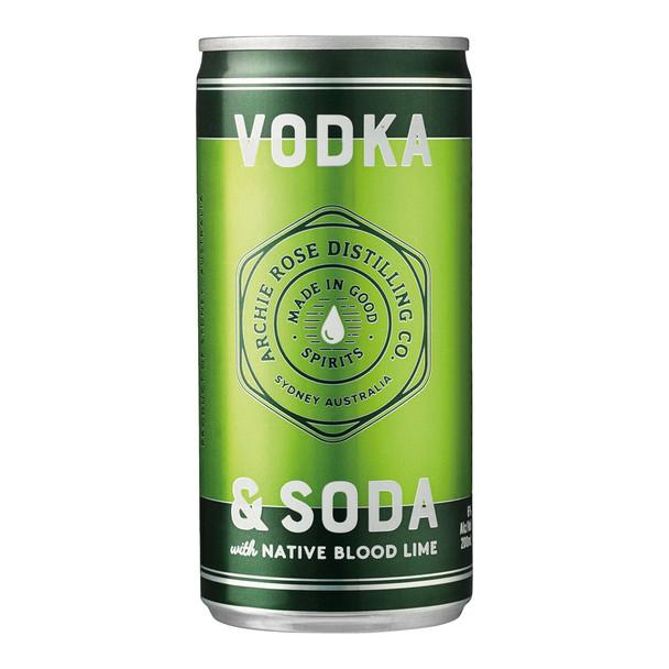 Archie Rose Cocktail Vodka Lime & Soda