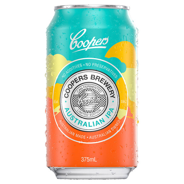 Coopers Australian IPA (Indian Pale Ale) Cans 375ml