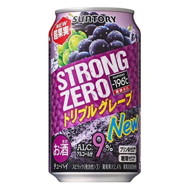 Suntory Strong Zero Grape  9% Cans 350ml