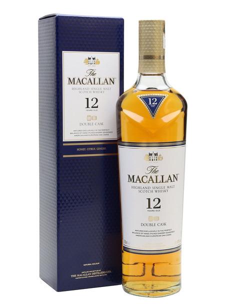 The Macallan 12 Year Double Cask Single Malt Scotch Whisky 700mL Per Bottle