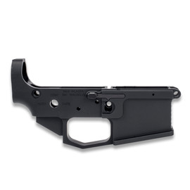AR15 Lower Receiver (Billet) - AMBI Bolt Release—Hard Coat Anodized by White Label Armory