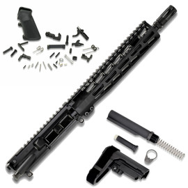 """AR15 Pistol Kit Complete (No Receiver) - 5.56 w/ 10.5"""" Barrel from White Label Armory"""