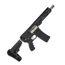 Saltwater Arms Blackfin Pistol 5.56 7.5 in. Barrel with 7 in. Handguard on White Label Armory produced by DRG Manufacturing