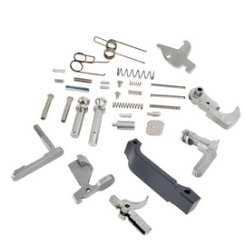 Saltwater Arms Blackfin™ AR15/M16 Stainless Steel Lower Parts Kit: Complete, No Grip distributed by White Label Armory