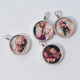 round charms for locket necklace
