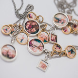 multi-metal lockets necklaces with photo inside