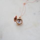 double photo rose gold round locket