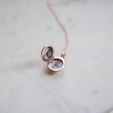 any photo works for this rose gold photo locket