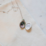 Silver Locket for Girlfriend with Prom Photo