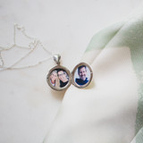 Silver Locket with Two Photos for Friend Who Lost Her Husband of 33 Years