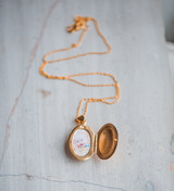 Photo of Son in the North Carolina Mountains in a Gold Oval Locket