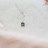 Small Square Silver Photo Locket for Aunt