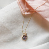Little Square Locket in Gold for Mother's Day