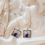 Silver Square Locket for Mom's Best Friend on Anniversary
